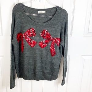 A&F M Christmas Knit Sweater w Sequin